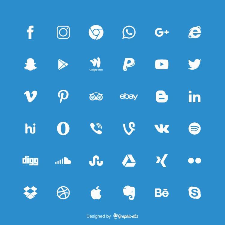 Social media icons Free Vector Desing