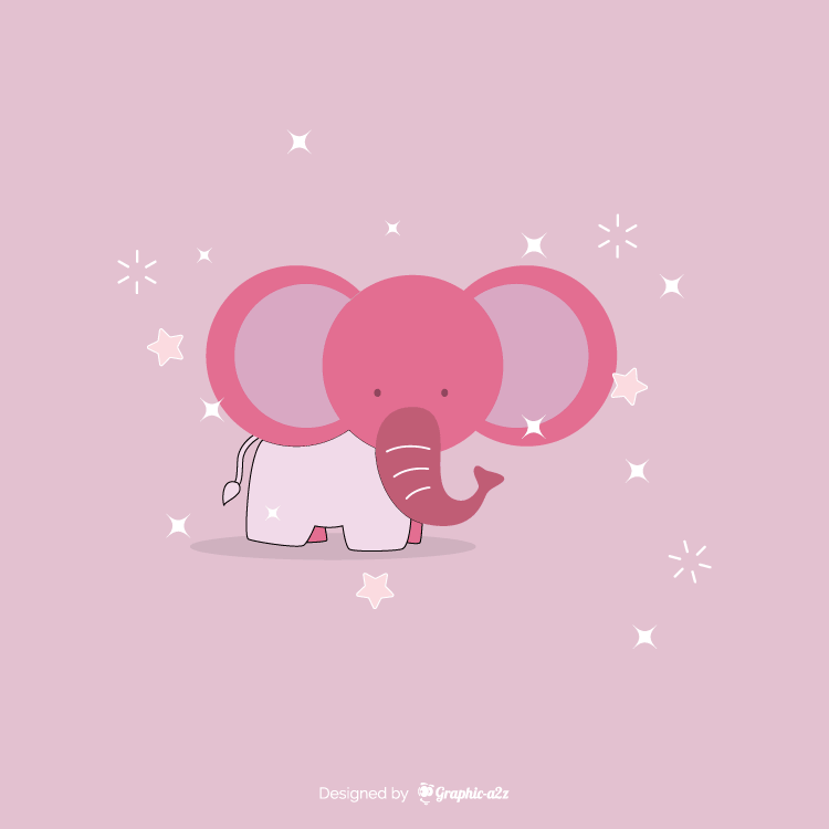 Elephant vector design on graphica2z