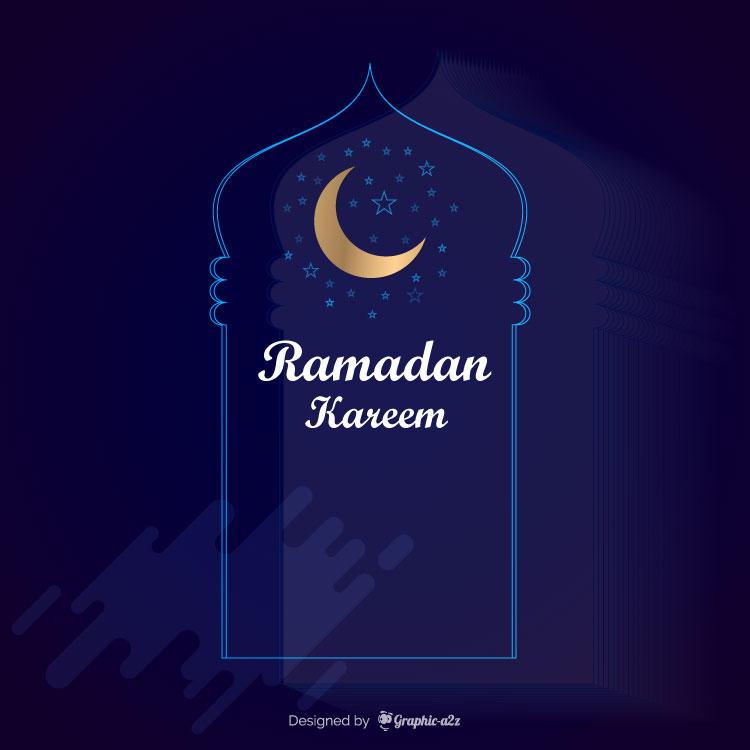 Ramadan kareem background template vector design on Graphica2z