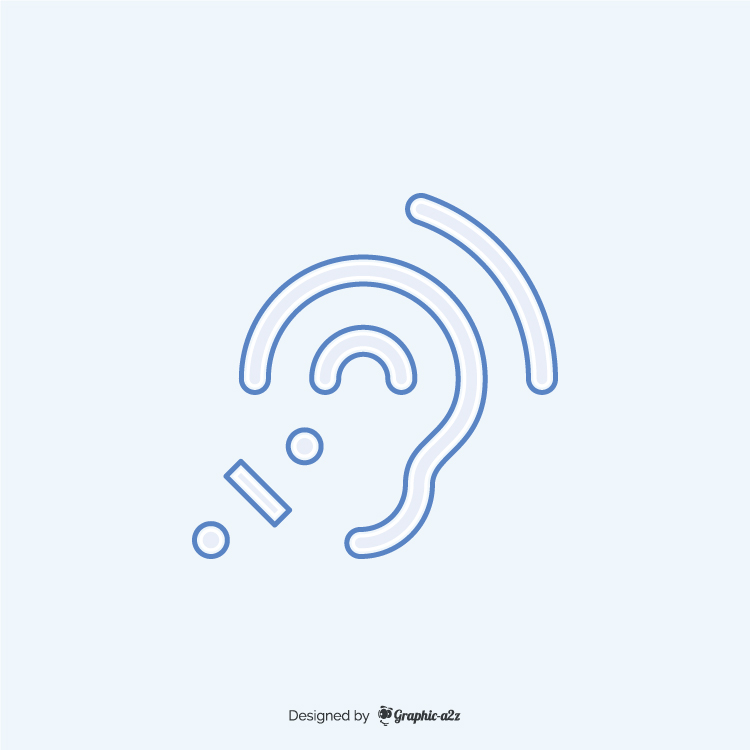Assistive listening systems blue icon