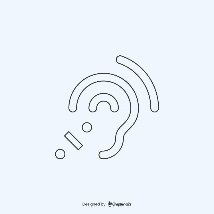 Assistive listening systems lineal icon