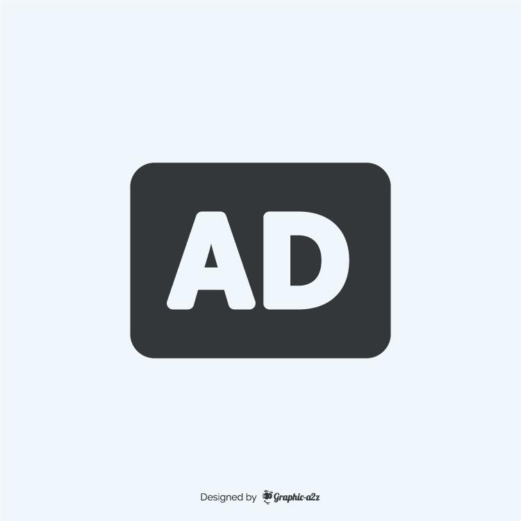 Audio description fill icon vector