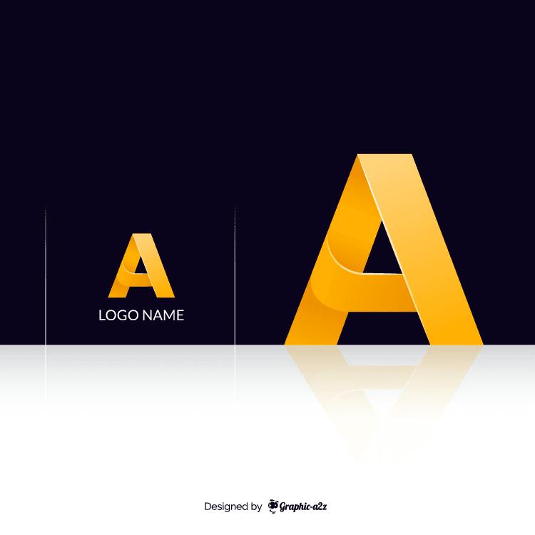 A letter vector gradient logo