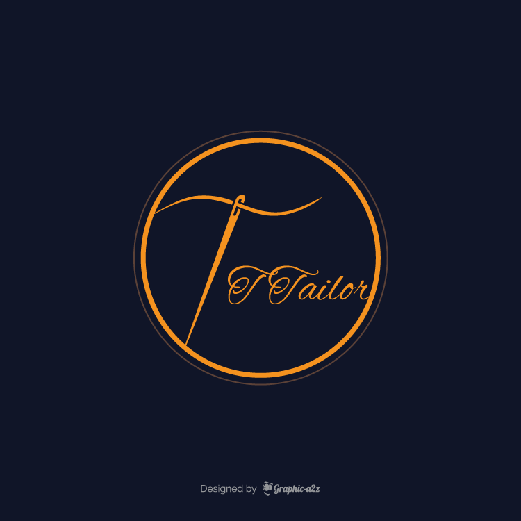 Creative vector tailor logo design