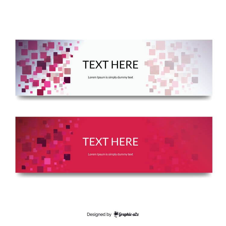 Squared background banner vector design