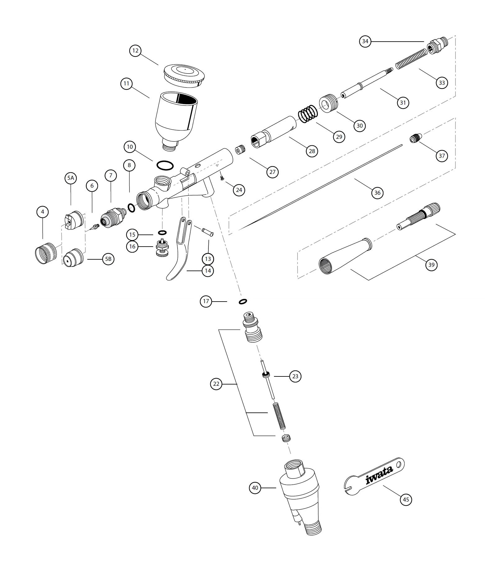 Iwata Kustom Th Airbrush Spare Parts Guide