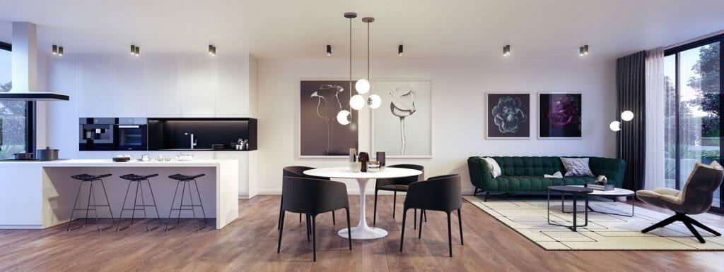3d Rendering: Walter Street, Hadfield - Living - Interior Render
