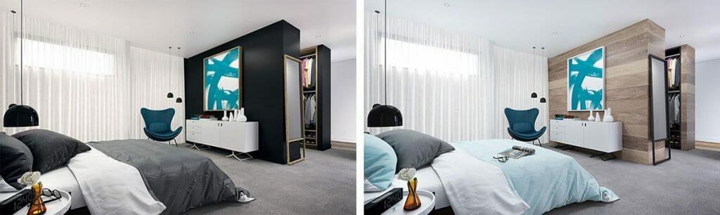 Sandringham Bedroom Options - Interior Render