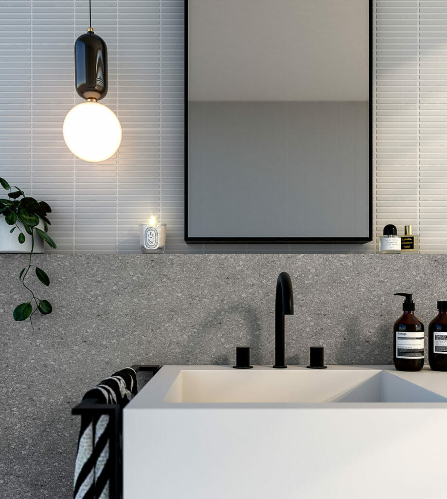 Hampton Court, Glen Waverley - 3d Bathroom Vignette