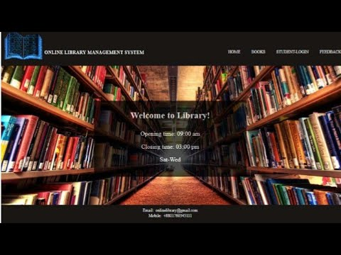 Website Design With Html Css Php My Sql Online Library Management System Graphic Art Design