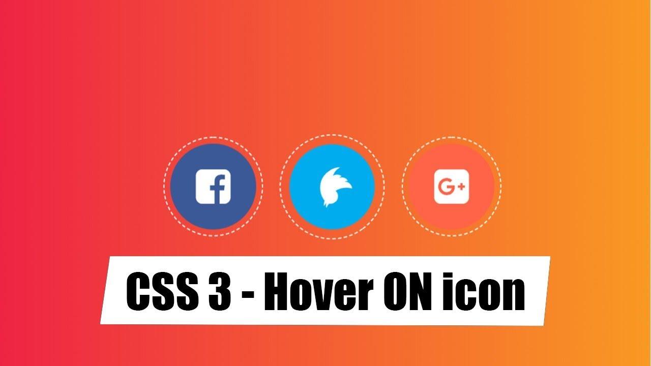 css 3-Hover effects of Social Profile for website design – 3
