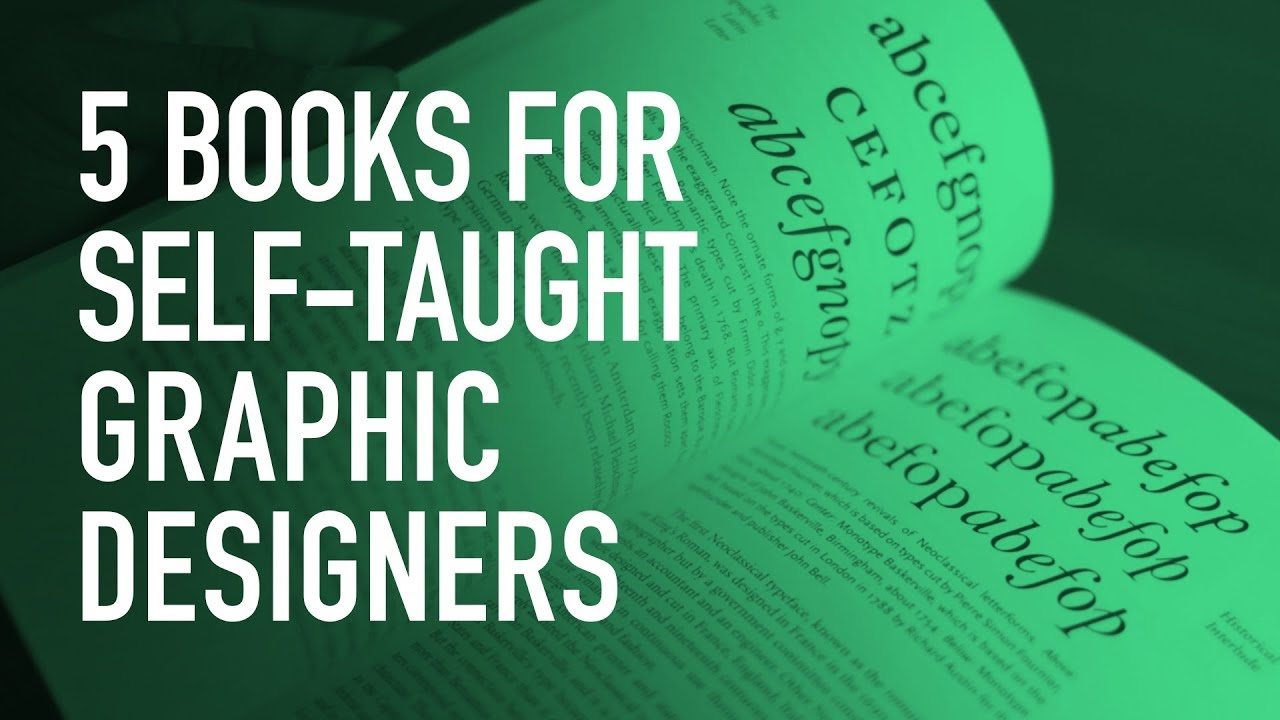 5 book recommendations for beginner self taught graphic designers