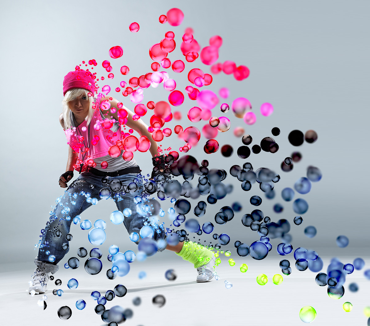 Free Photoshop Actions 3d Bubbles