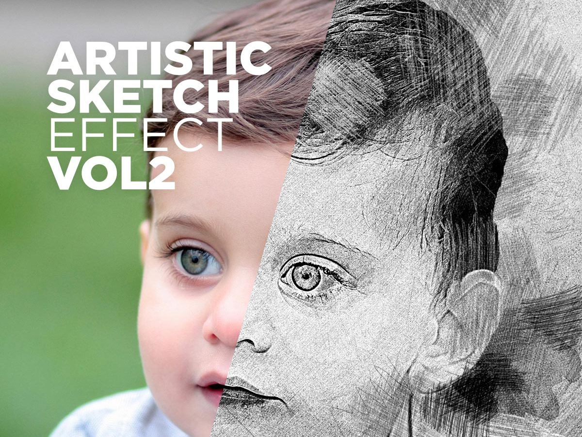 Free Artistic Sketch Photoshop Action