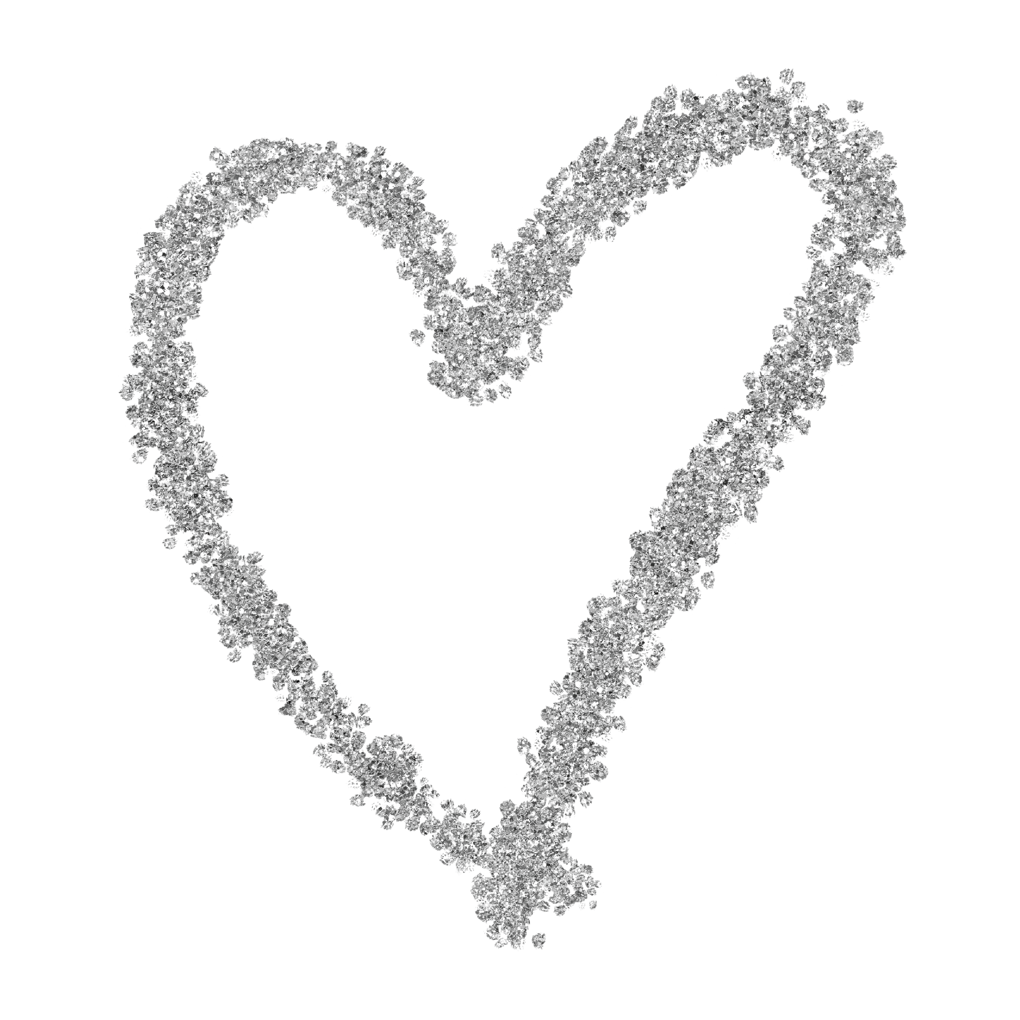 Silver Glitter Heart Web Flair Graphic Graphic Brewery