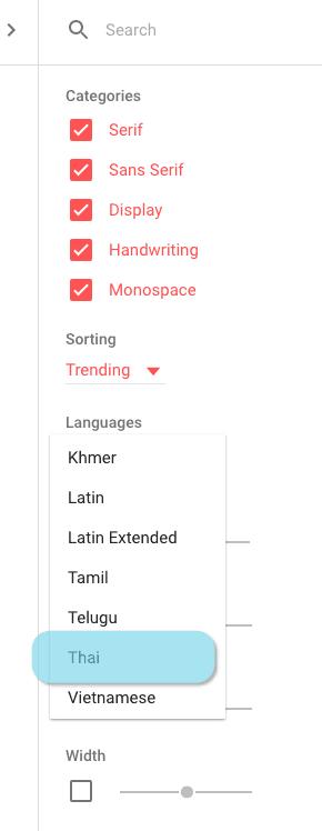 search-thai-google-font