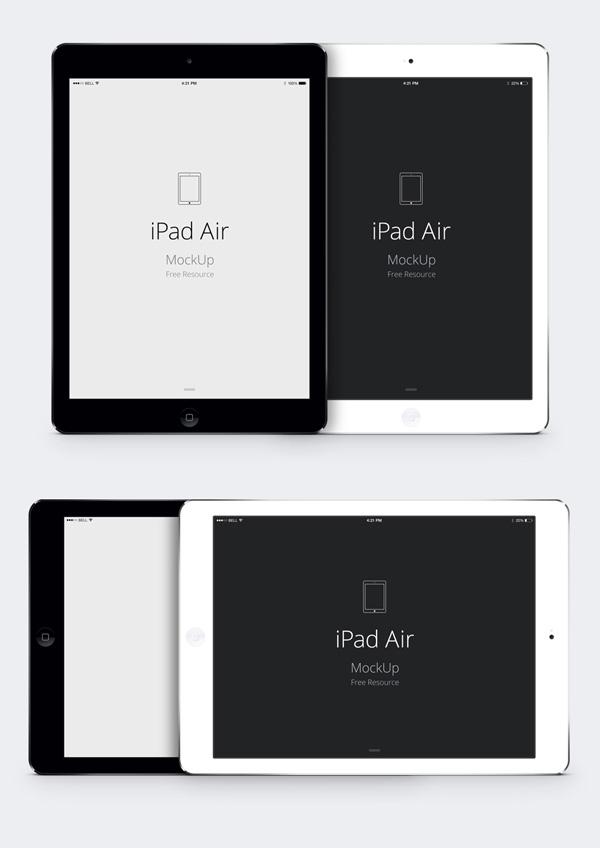 IPad Air PSD Vector MockUp GraphicBurger