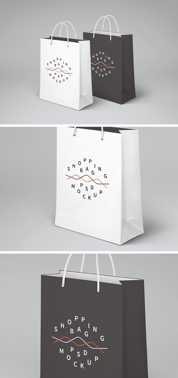 Shopping Bag PSD MockUp GraphicBurger