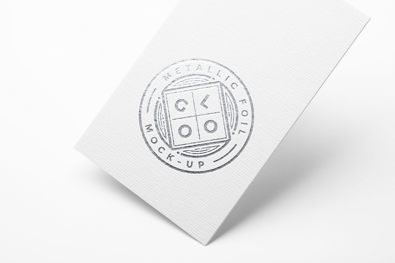 Metallic Foil Logo MockUp GraphicBurger