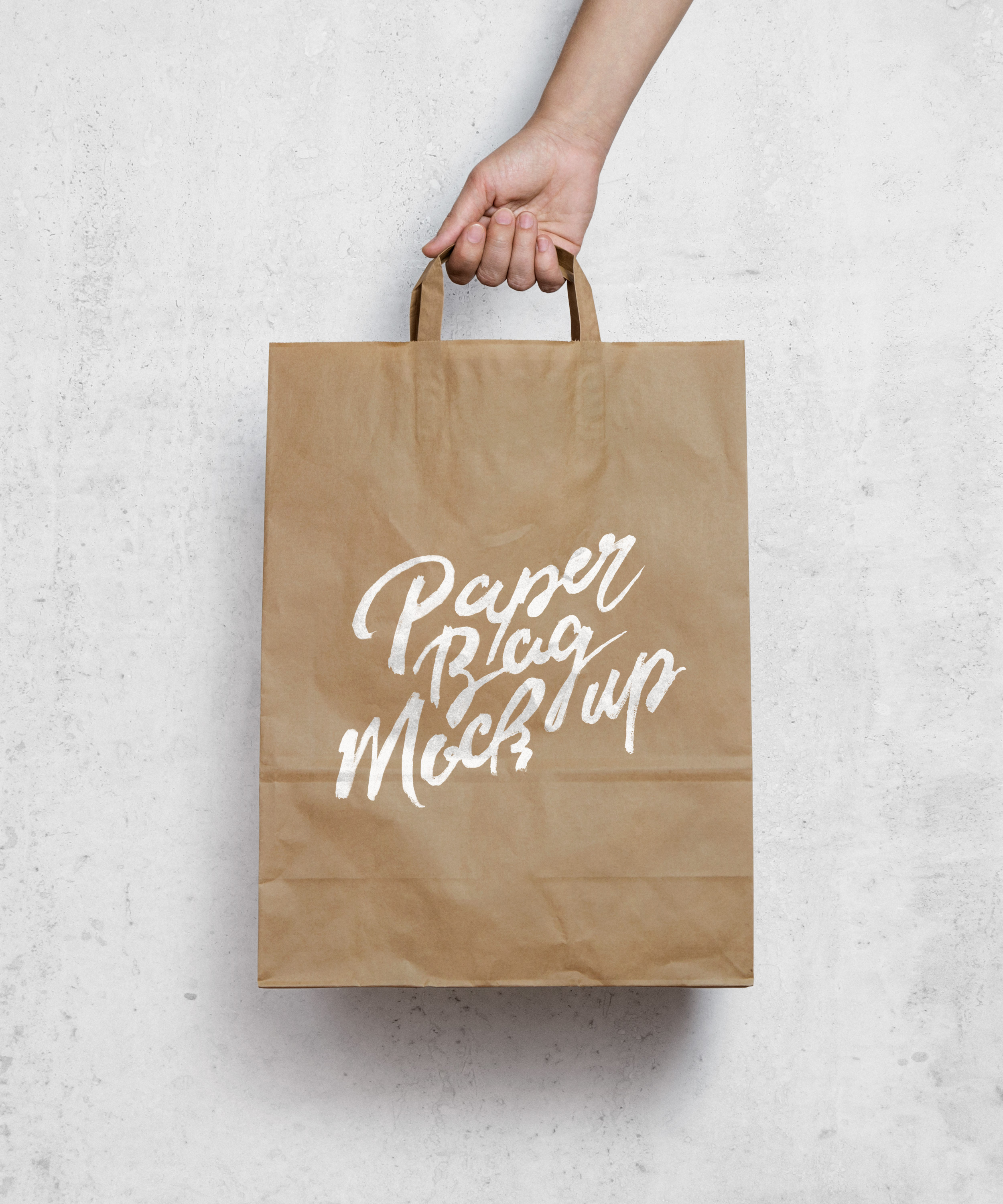 A set of 2 fully customizable free tote bag mockups in psd format. Brown Paper Bag Mockup Graphicburger