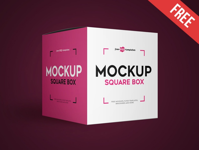 Download 24+ Square Box Mockup PSD Free Download (2020) - Graphic Cloud