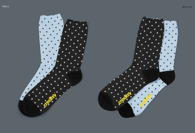 Download 15+ Socks Mockup PSD for Apparel Designing - Graphic Cloud