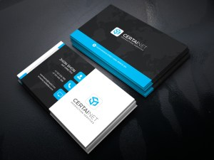 Security Company Corporate Business Card Template