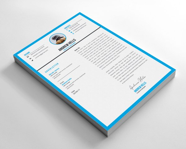 Minimalist Stylish CV Design