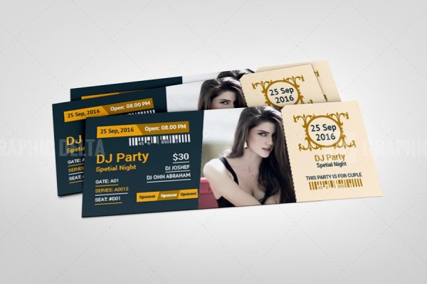 Modern Event Ticket Design