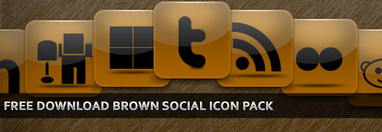 Post image of Free Download Brown Social Icon Pack