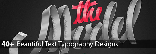 Post image of Digital Text Typography: 40+ Beautiful Text Typography Designs