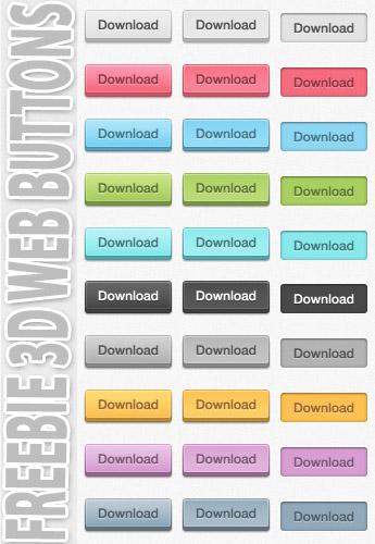 3d Web Buttons PSd