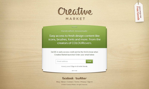 Creative Market Coming Soon Page Design