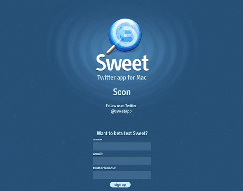 Sweet Coming Soon Page Design