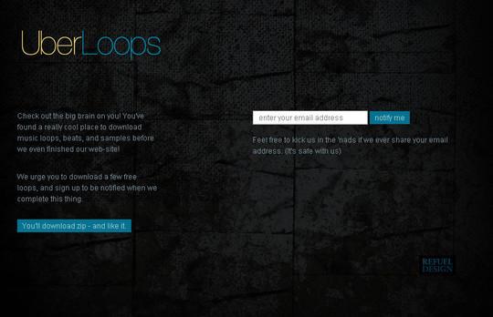 UberLoops Coming Soon Page Design