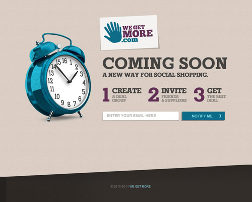 We Get More Coming Soon Page Design