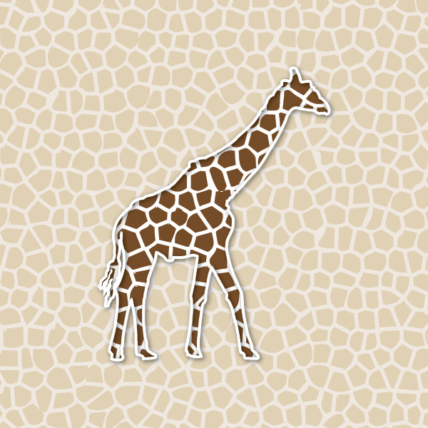 Giraffe Background Vector Graphic