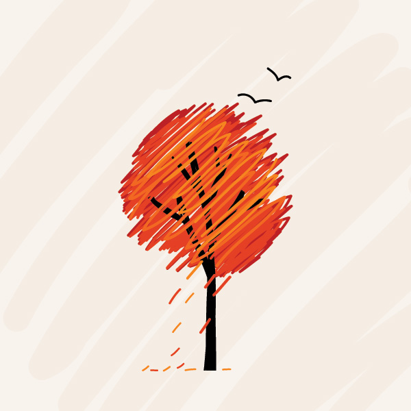 Fall Tree Vector Graphic