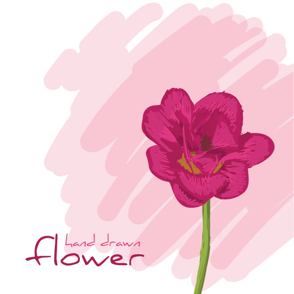 Hand Drawn Flower Vector Graphic