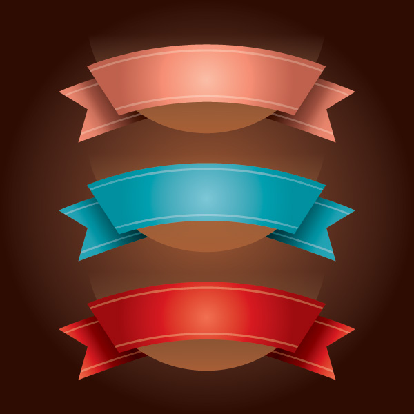 Ribbons Vector Graphic