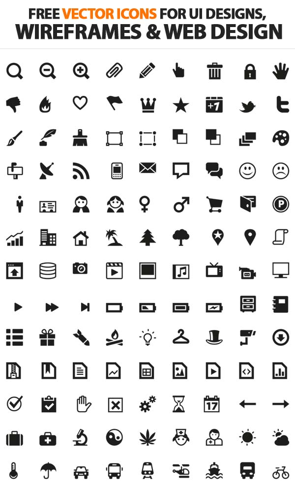 Free Vector Icons Pack 4