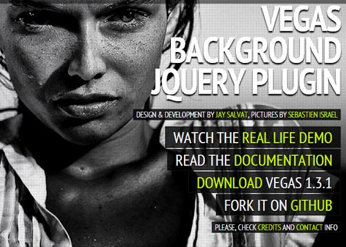 Vegas: Fullscreen Background Slideshows jQuery Plugin