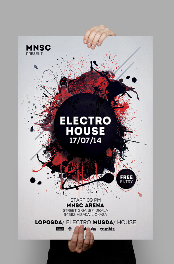 Modern Party Flyers Templates Design Graphic Design