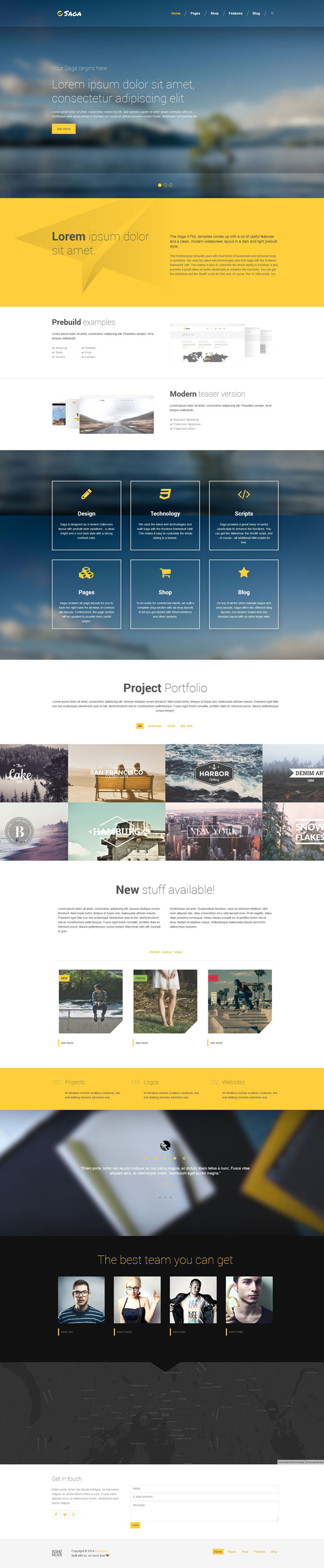 10 Responsive HTML5 One Page Website Template