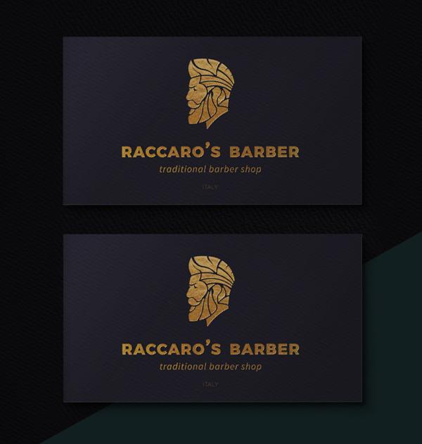 Branding: Raccaro's Barber - Business Card