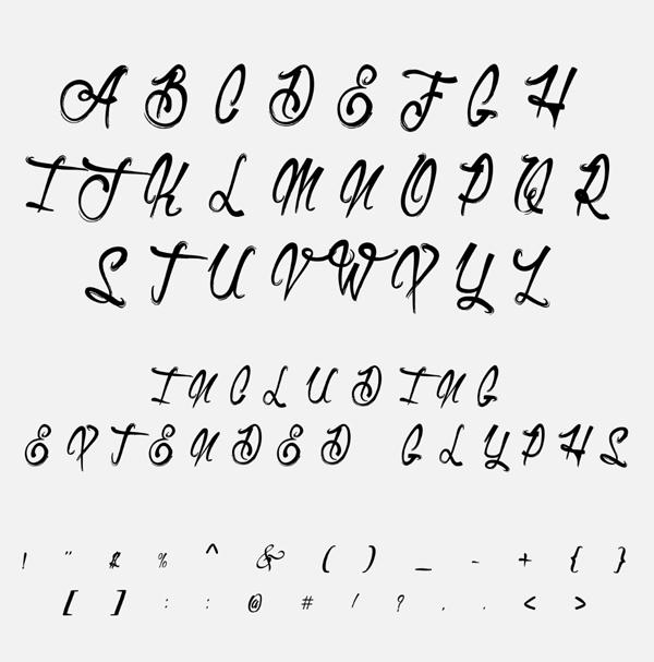 Letras libres de la fuente de Duvetica