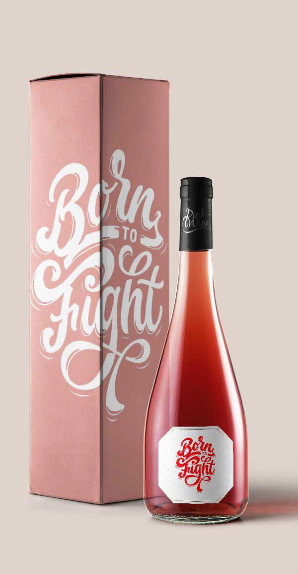 Las maquetas gratuitas Botella Borgoña rosa