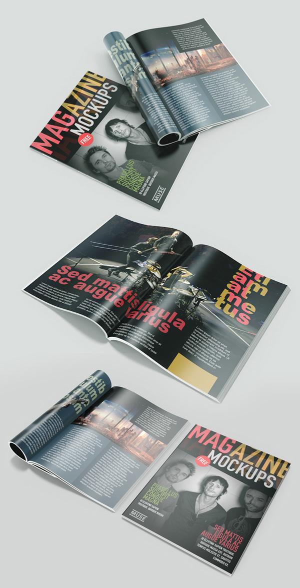 Las maquetas de la revista gratuitas