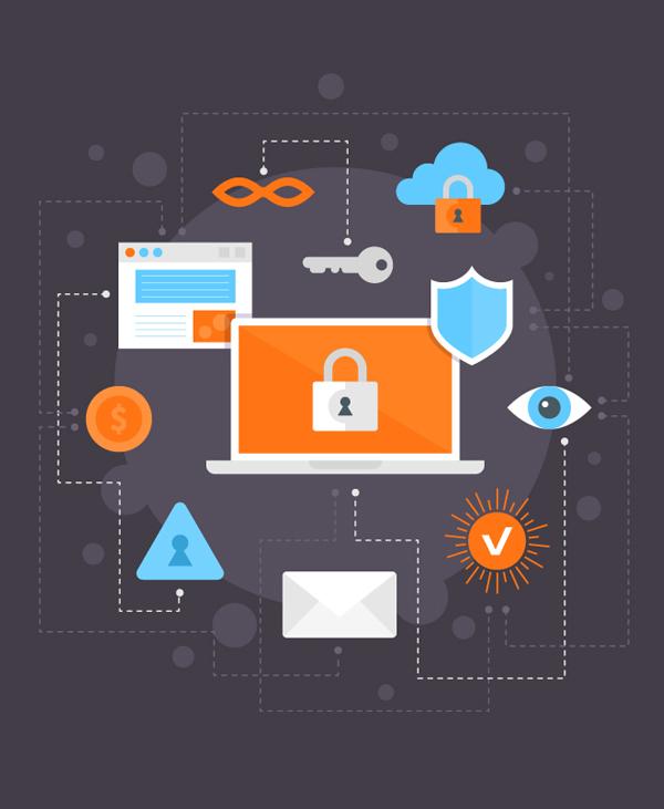 Cómo crear una ilustración plana de seguridad de Internet en el diseñador de afinidad