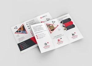 Lotus Corporate Tri-Fold Brochure Template